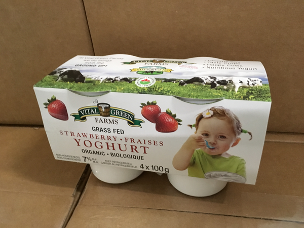 Strawberry Organic Individual Yogurts