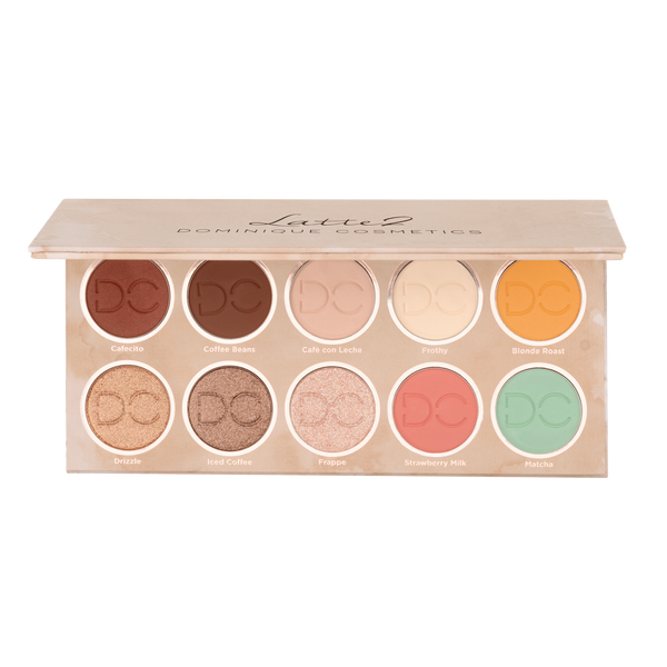 Opened Latte 2 Palette displaying shade range