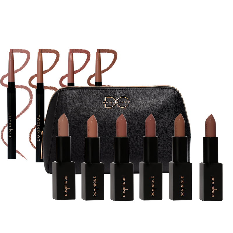 Completely Nude Lip Bundle with 4 Lip liners and 6 Lipsticks all in different shades of nude