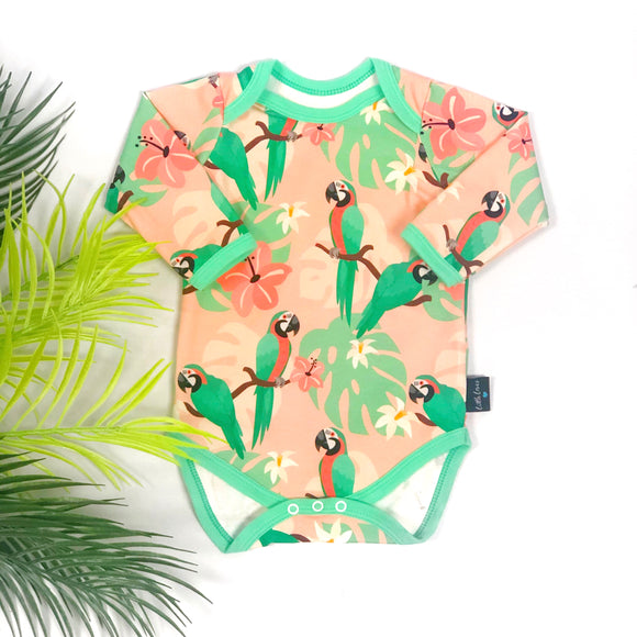 Tropical Parrot Bodysuit READY TO SHIP (-30% off)