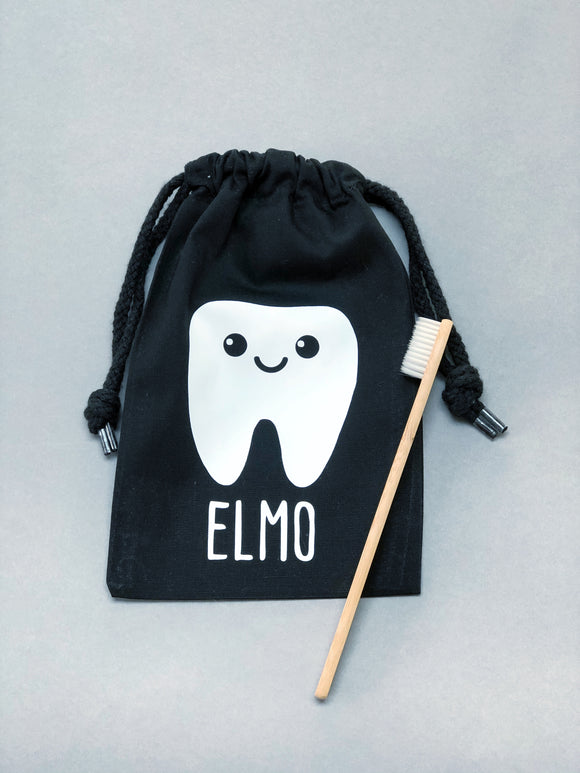 Tooth Fairy bag and bamboo toothbrush