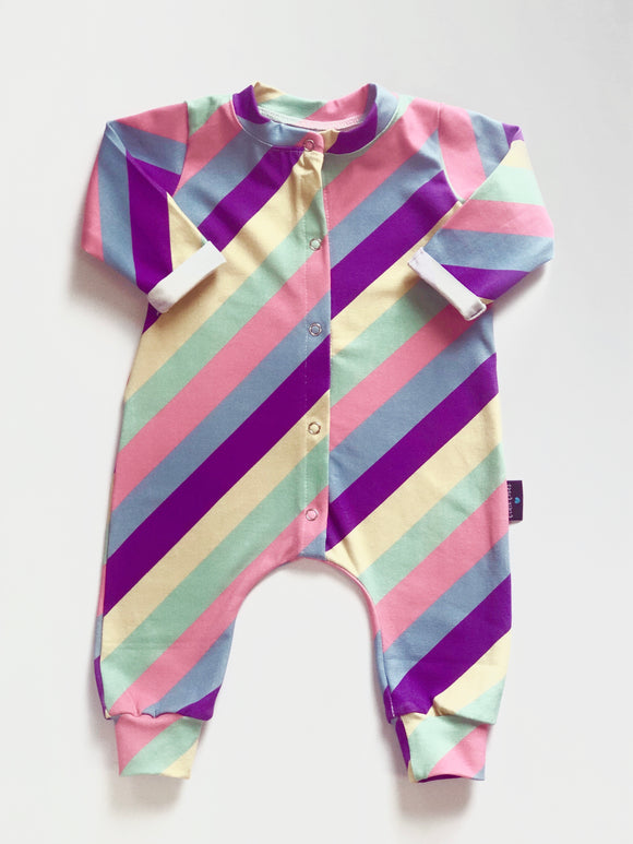 Candy Stripe babygrow