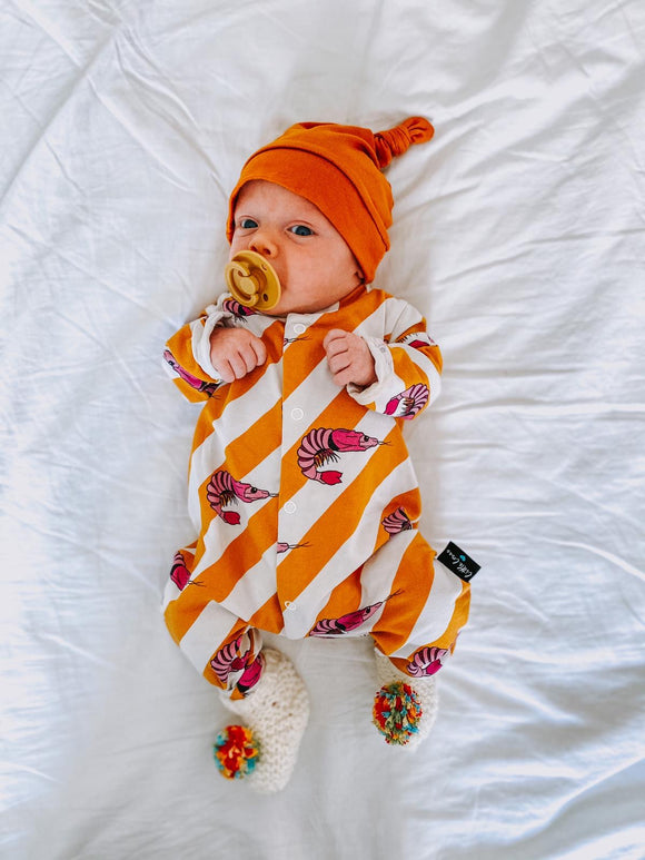 Prawn babygrow (PRE ORDER FOR END OF MARCH)