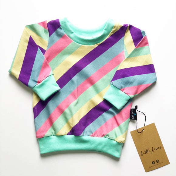 Candy Stripe lightweight Sweater