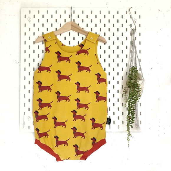 French sausage dog summer romper