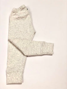 Plain Grey Melange Leggings