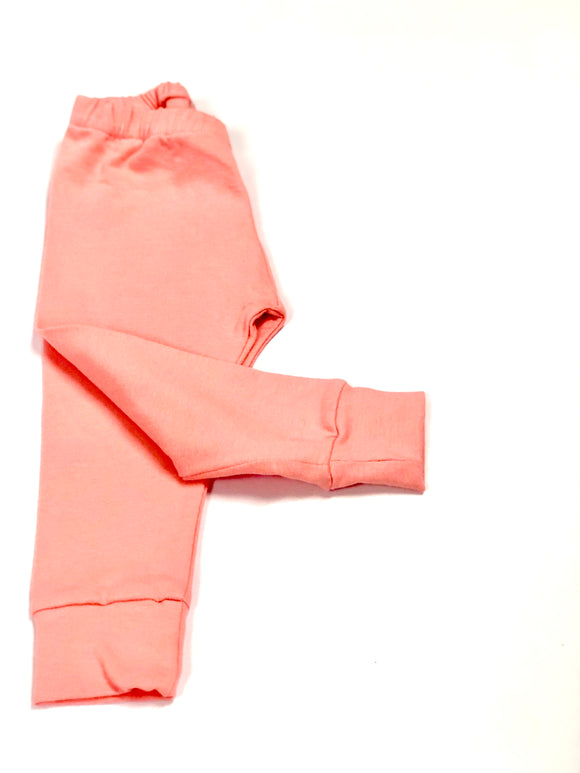 Plain Salmon Pink Leggings