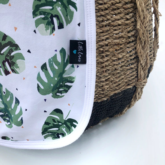 Unisex Monstera cotton  blanket