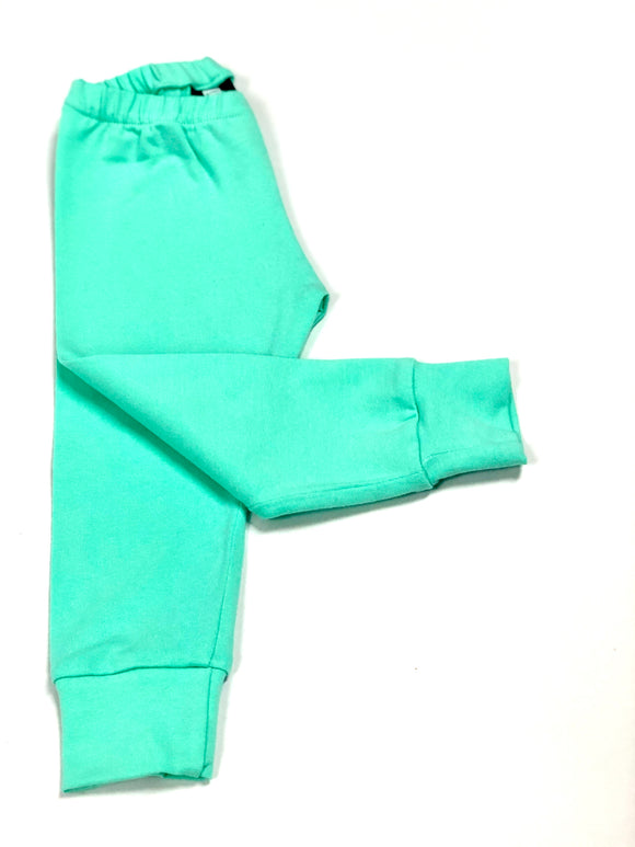 Plain Mint Green Leggings