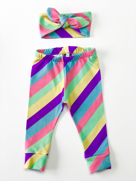 Candy Stripe Leggings