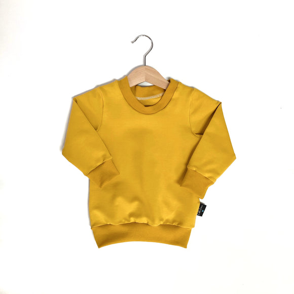 Little Earthlings Mustard Sweater (free name personalisation)