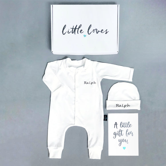 Personalised Newborn Babygrow, READY TO SHIP