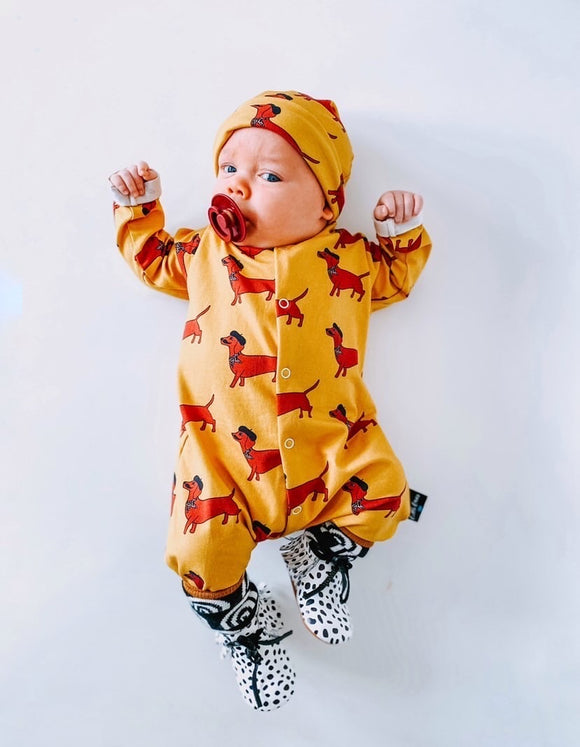 French sausage dog babygrow