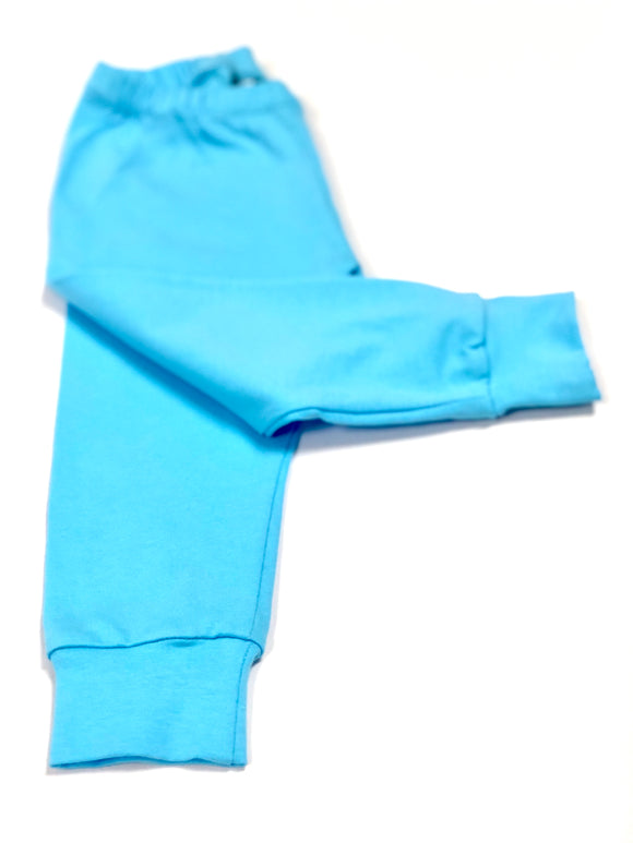 Plain Aqua Blue Leggings