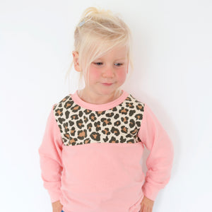 Childrens panelled lightweight jumper (CREATE YOUR OWN)