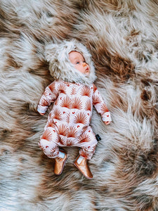 Desert Palms Babygrow, READY TO SHIP