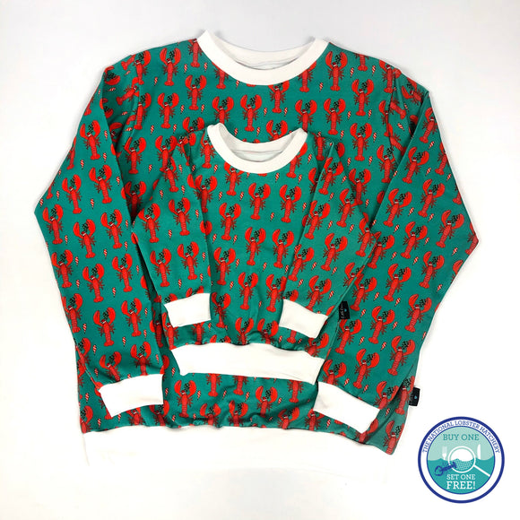 Ladies Santa Claws Lobster Jumper (a collaboration with Padstow Lobster Hatchery)
