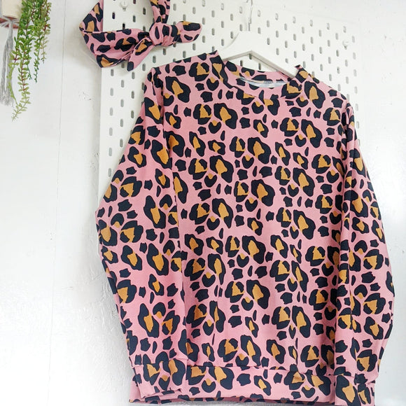 Women's  Pink Panther Leopard Lightweight Sweater