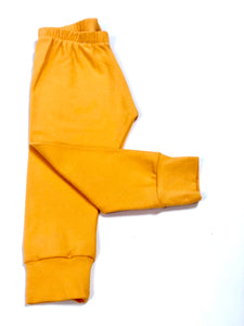 Plain Ochre Yellow Leggings
