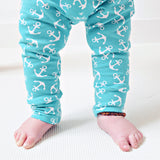 Unisex Mint Anchor  Leggings