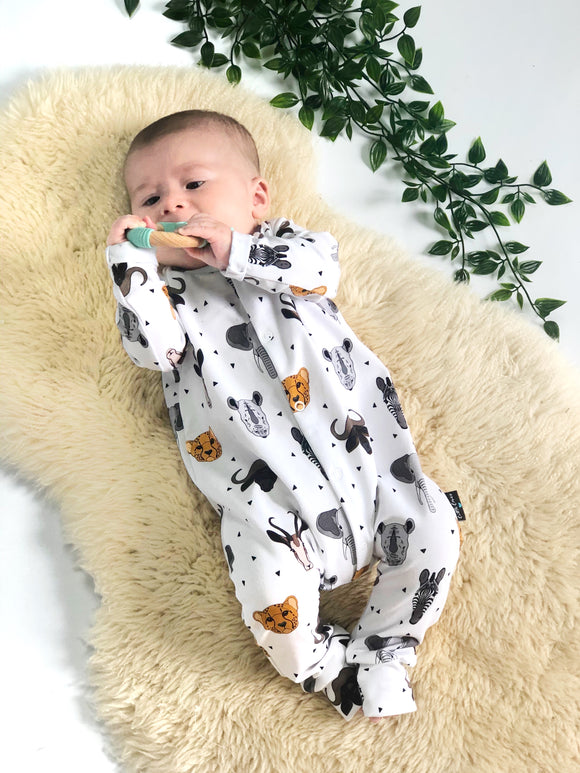 Safari Babygrow, READY TO SHIP (-30% off larger sizes)