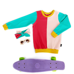 Retro colour block lightweight Sweater