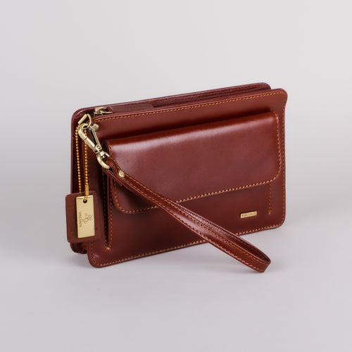 Visconti Ted Brown Wrist Bag