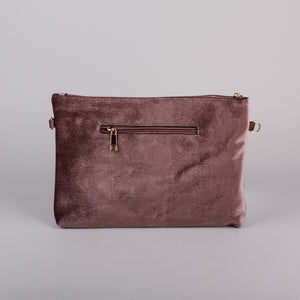 Dimple Ramaiya Aurora Clutch in Mocha