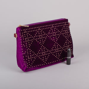 Dimple Ramaiya Luna Clutch in Purple