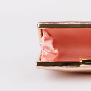 Dimple Ramaiya Celeste Clutch in Rose Gold
