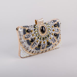 Dimple Ramaiya Zena Clutch in Silver