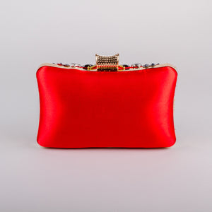 Dimple Ramaiya Zena Clutch in Red