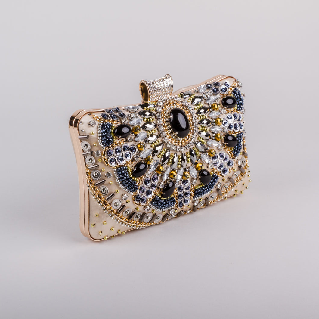 Dimple Ramaiya Zena Clutch in Gold