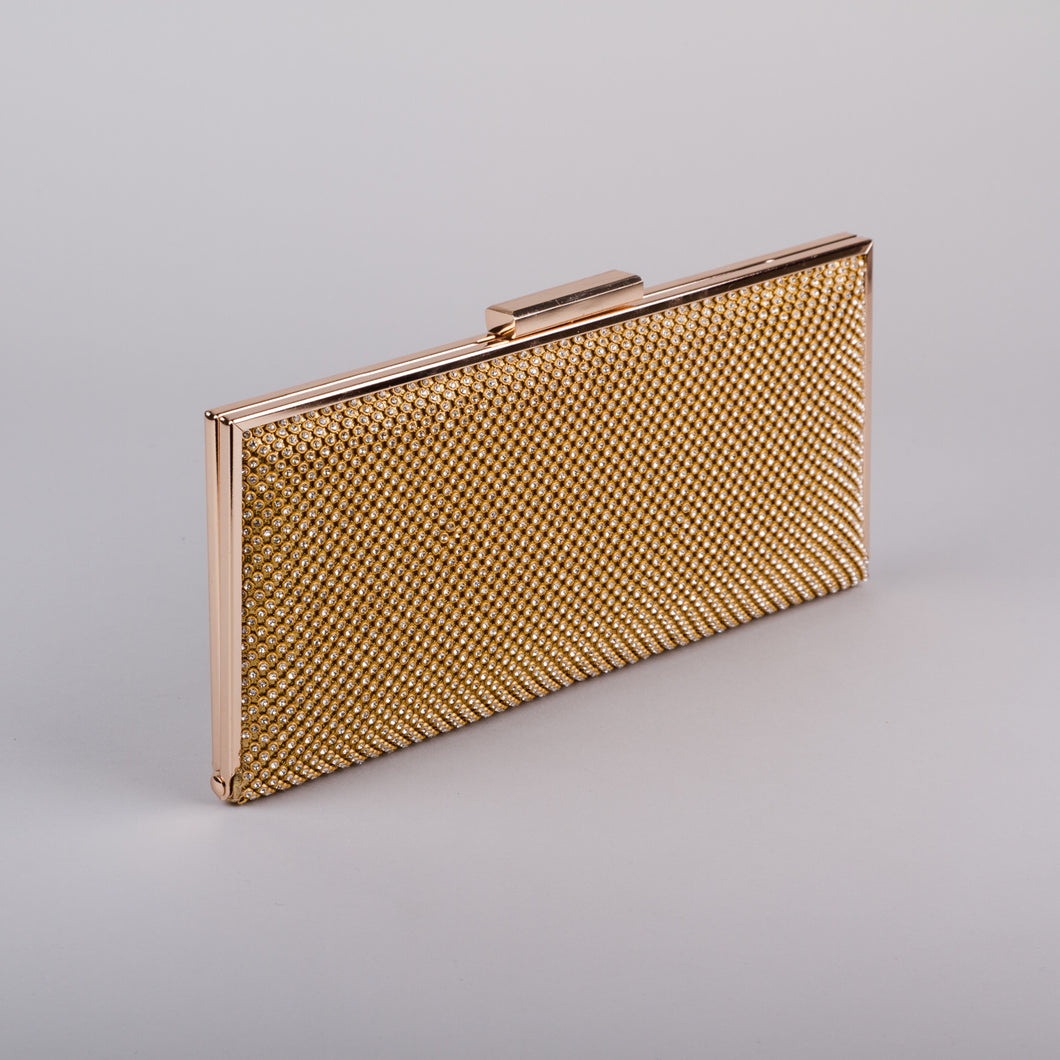 Aspen Fox Sia Clutch in Gold