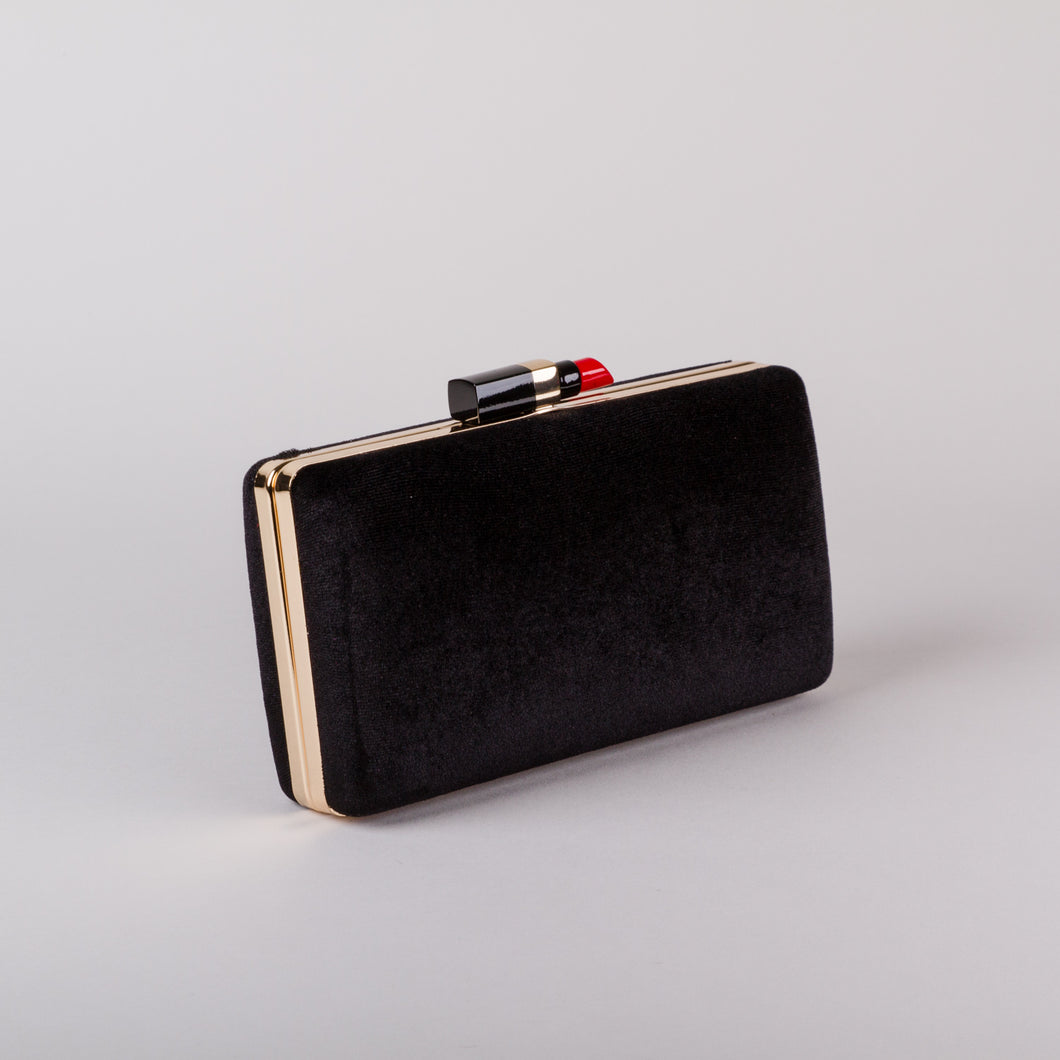 Aspen Fox Lippy Clutch in Black