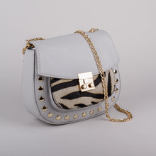Ashwood Genevieve Handbag in Zebra Grey