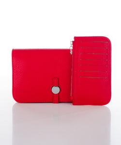 Sweetgum Lexi Purse with Pull Out Pouch in Red