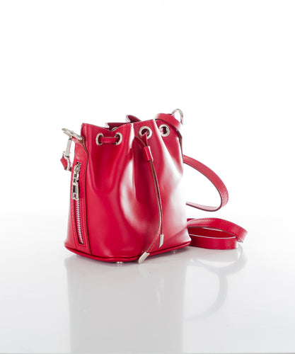 Aspen Fox Ria Small Bucket Bag in Red
