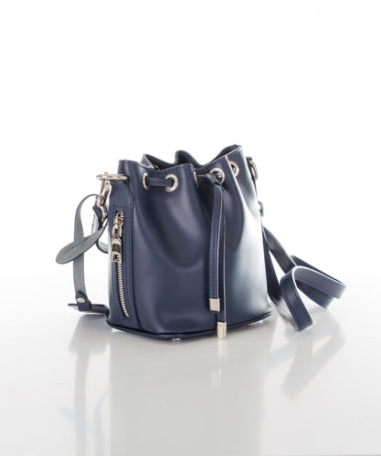 Aspen Fox Ria Small Bucket Bag in Blue
