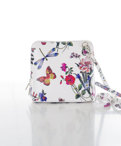 Betulla Sofia Crossbody in White Floral Woodland