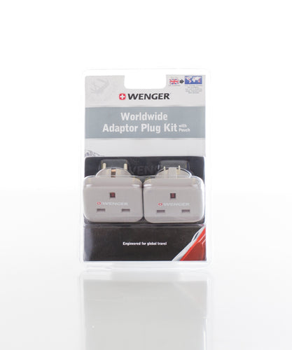 Wenger Worldwide Adapter Plug Kit with Pouch
