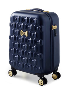 Ted Baker Beau in Navy Blue Cabin (54cm) 4 Wheel Suitcase