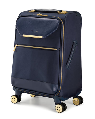 Ted Baker Albany in Navy Blue Cabin (56cm) 4 Wheel Suitcase