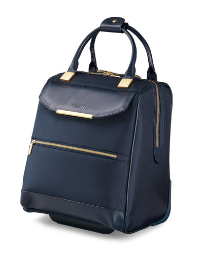 Ted Baker Albany in Navy Blue 2 Wheel Business Trolley (40cm)