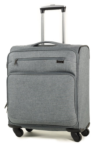 Rock Madison Cabin 4 Wheeled Suitcase (56cm) in Grey