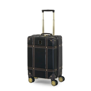 Rock Vintage Cabin 4 Wheeled Suitcase (54cm) in Black