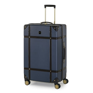 Rock Vintage Large 4 Wheeled Suitcase (78cm) in Navy