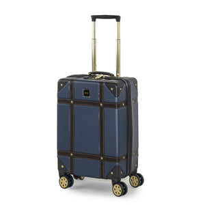 Rock Vintage Cabin 4 Wheeled Suitcase (54cm) in Navy