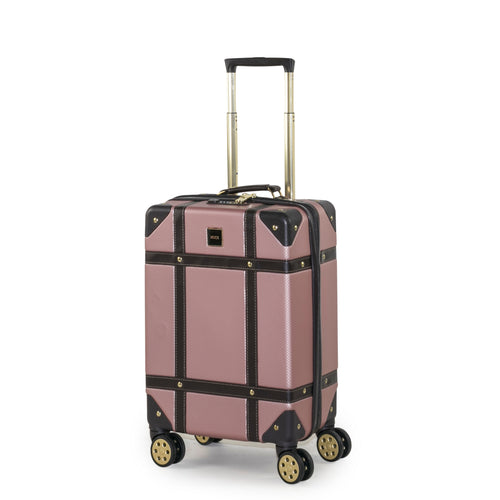 Rock Vintage Cabin 4 Wheeled Suitcase (54cm) in Pink