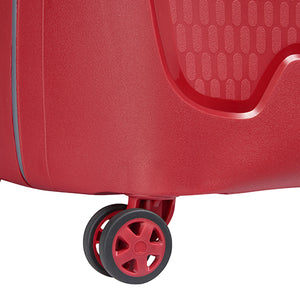 Delsey Moncey Red Medium (69cm) 4 Wheel Suitcase